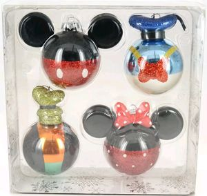 Disney Parks Glass Christmas Ornament Set Mickey Minnie Donald Goofy for Sale in Spring Valley, CA