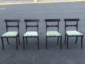 Four antique Mahogony chairs for Sale in Alexandria, VA