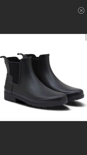 Hunter short rain boots black on black 9 for Sale in Scottsdale, AZ
