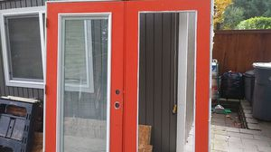 "Outswing french door 80"" tall x. 72"" wide rough opening for Sale in Bonney Lake, WA"