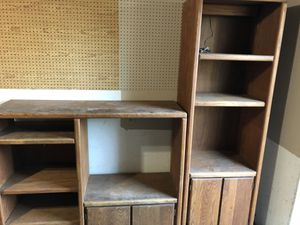 Oak shelving or small entertainment for Sale in Orlando, FL