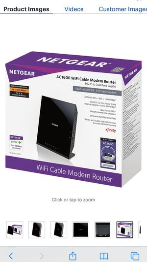 NETGEAR cable modem router for Sale in Medford, MA