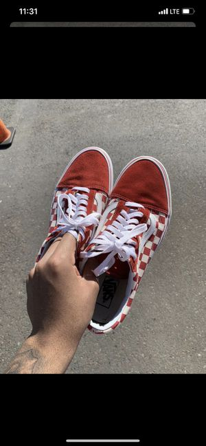 Vans Red Checkerboard, Size 10.5 for Sale in Wyncote, PA