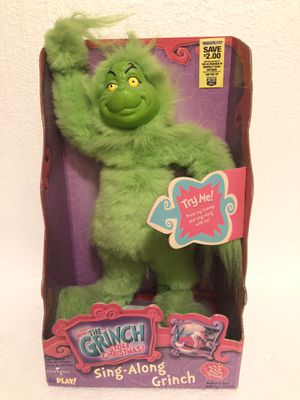 2000 HOW THE GRINCH STOLE CHRISTMAS SING-ALONG GRINCH IN BOX~NOS~DR SEUSS Rare for Sale in Painesville, OH