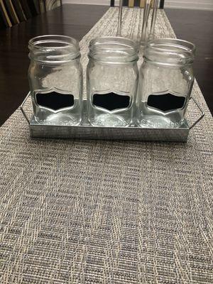 Mason jars utensil holder for Sale in Houston, TX