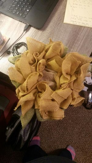 homemade sunflower wreath for Sale in Traverse City, MI