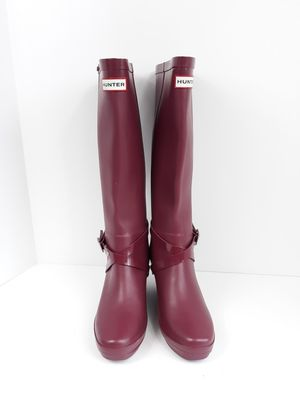 Hunter Wedge Burgundy Knee-high Rain Boots for Sale in Ashburn, VA