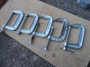"Adjustable 1430 & KC PRO 94430 3 Inch 5 Piece C Clamp Lot 1 1/2"" Throat Used for Sale in Clifton Heights, PA"