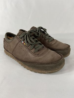 The North Face Size 10 Brown Leather Walking Shoes Sued And New buck Leathers for Sale in Mesa, AZ