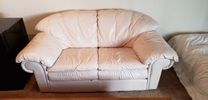 White leather couch. for Sale in Portland, OR