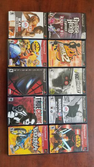 Playstation 2 PS2 Games Lot of 10 Games Need For Speed DDR MAX2 Guitar Hero Spiderman And More for Sale in Visalia, CA