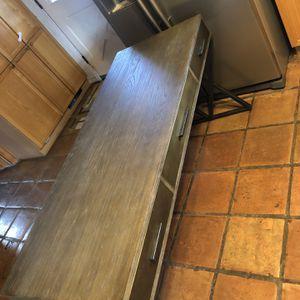 Sampson Oak Grey Desk for Sale in Albuquerque, NM