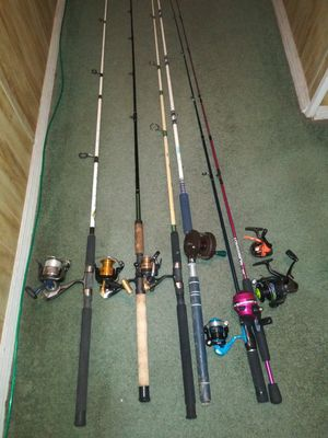 Fish rod & reels for Sale in Tampa, FL