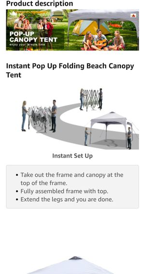 ABCCANOPY Canopy Tent Compact Outdoor Canopies 10x10 Instant Shelter Portable Canopies with Wheeled Backpack for Sale in Beaufort, SC