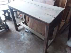 Solid mahogany antique school desk for Sale in Houston, TX