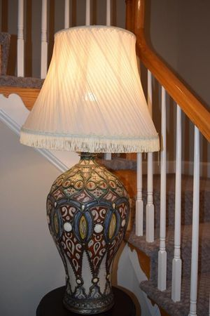 Unique Moroccan Handcrafted & Hand Painted Lamp W/ Shade for Sale in Vienna, VA