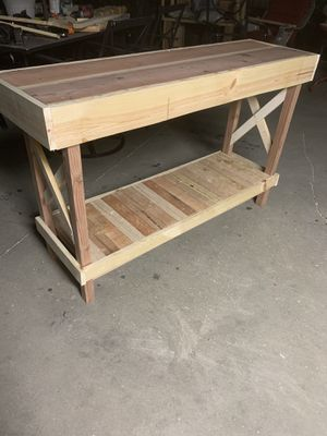 Hall table or walkway red wood for Sale in Fresno, CA