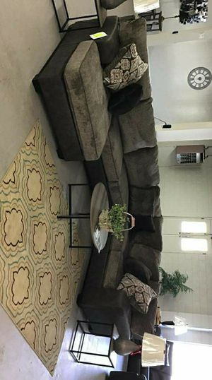Chocolate Sectional / couch living room set / same day delivery for Sale in Houston, TX