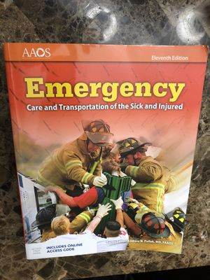 EMT Textbook w/online code for JB Learning for Sale in Phoenix, AZ