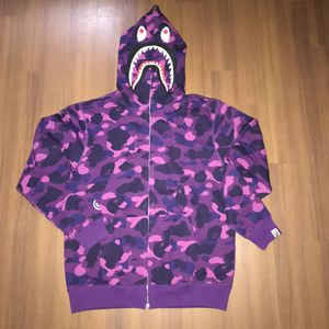 Bape purple camo shark hoodie size L XL for Sale in San Francisco, CA