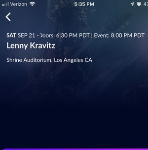 Lenny Kravitz 3 tickets for sale for Sale in Redondo Beach, CA