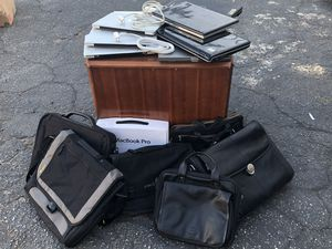9 laptops and stack of cases for Sale in Santa Ana, CA