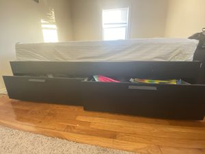 IKEA bed frame with storage (Queen) for Sale in Parsippany-Troy Hills, NJ
