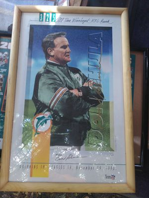 Don Shula #325 wins poster for Sale in West Palm Beach, FL