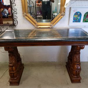 Marble-top Console Table for Sale in Duncanville, TX