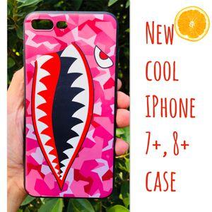 New cool iphone 7+ or iphone 8+ PLUS case rubber bape aape hypebeast hype swag men's women's for Sale in San Bernardino, CA