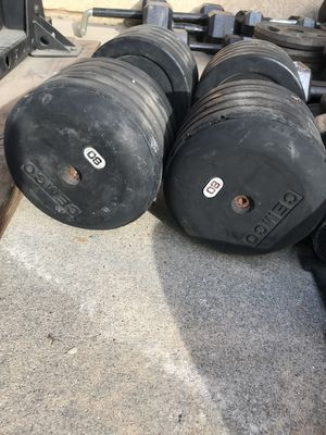 80lb rubber dumbbells for Sale in Upland, CA