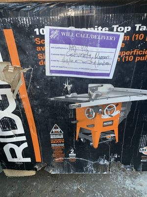 Ridgid. Commercial table saw. Brand new. for Sale in Temple City, CA