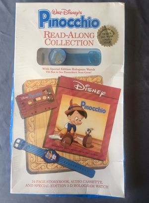 Walt Disney's Pinocchio Read ALong Includes Watch, Book & Cassette New in package! for Sale in Norwalk, CA
