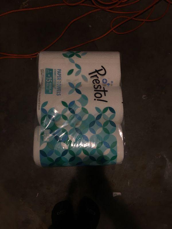 Six rolls of kitchen paper