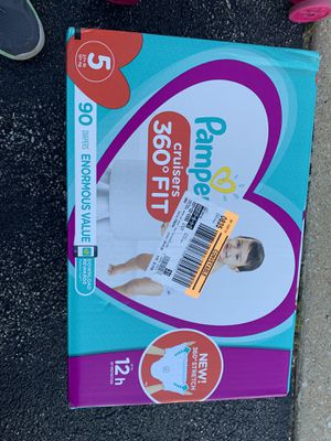 Pampers pants, diapers, 5 for toddlers, 90 for Sale in Hoffman Estates, IL