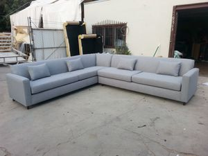 NEW 11X11FT PAULINE SILVER FABRIC SECTIONAL COUCHES for Sale in Moreno Valley, CA