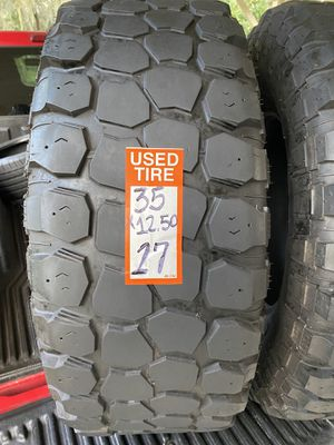 35x12.50-17 pair 2 tires Ironman All Country M/T not repairs 2018 check last pic for deep tread for Sale in Gibsonton, FL
