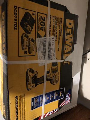 Brand new DeWalt 20-Volt MAX XR Lithium-Ion Cordless Brushless Hammer Drill/Driver Kit w/ Tool Connect, (2) Batteries 2.0Ah & Charger for Sale in Lombard, IL