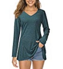 *** GREAT FIR CHRISTMAS *** Brand New Long Sleeve V Neck Flare Tunic Tops. Size Small (pretty green color) This casual tunic shirt have the cutest for Sale in Imperial, MO