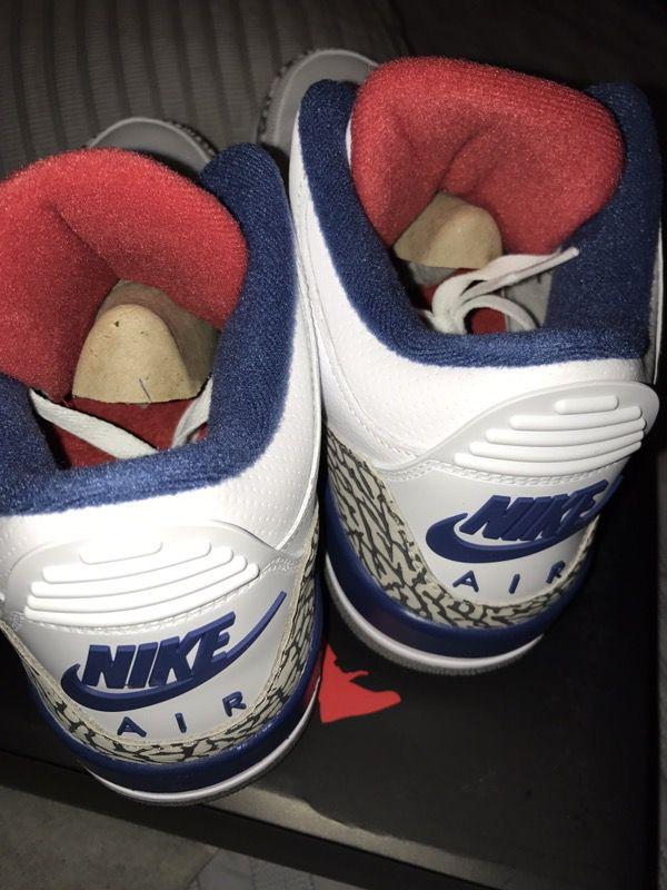 """Retro Jordan III OG """"true blue"""" DEADSTOCK (sell or trade for size 12)"""