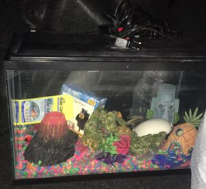 Small fish tank with all accessories $60 obo for Sale in Weslaco, TX