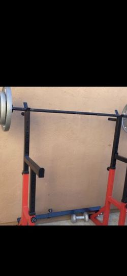 Bench Press / Squat Rack With Weights for Sale in Tijuana,  MX