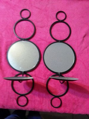 Black w/mirror candler holder like new for Sale in Haines City, FL