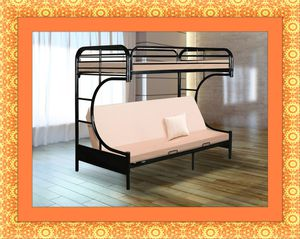 Twin futon bunkbed frame free delivery for Sale in Alexandria, VA