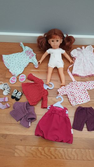 "Corolle Doll 16"" and Outfits Lot. for Sale in Everett, WA"