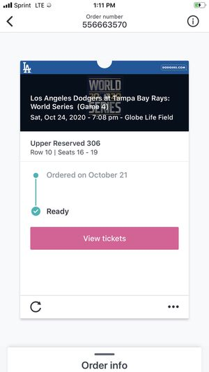 2020 World Series Tickets for Sale in Hacienda Heights, CA