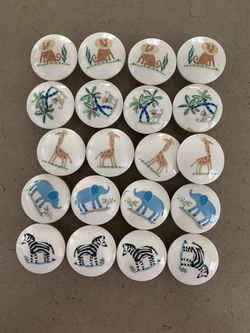 Wooden animal drawer knobs for Sale in Tewksbury,  MA