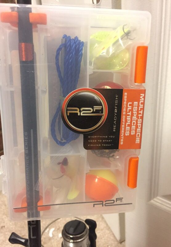 Fishing rod and reel with kit