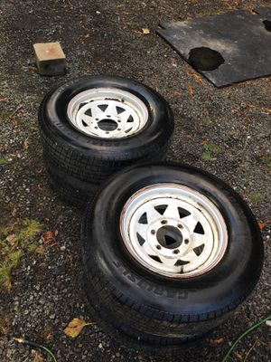4 225 75 15 trailer tires and rims for Sale in Gig Harbor, WA