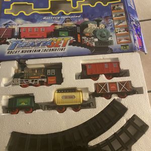 Luxury Electric Christmas Train Tracks Set Lights Sound Kids Toy Gift Tree Decor for Sale in El Paso, TX